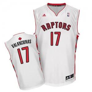 Toronto Raptors Jonas Valanciunas #17 Home Swingman Maillot d'équipe de NBA - Blanc pour Homme