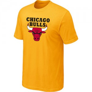 T-shirt à manches courtes Chicago Bulls NBA Big & Tall Jaune - Homme