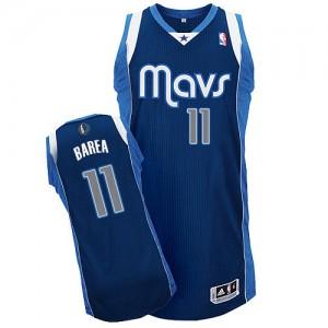 Maillot Adidas Bleu marin Alternate Authentic Dallas Mavericks - Jose Barea #11 - Enfants