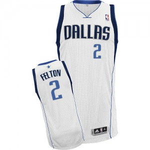 Maillot Adidas Blanc Home Authentic Dallas Mavericks - Raymond Felton #2 - Homme