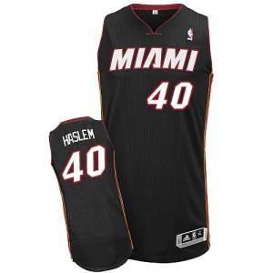 Miami Heat Udonis Haslem #40 Road Authentic Maillot d'équipe de NBA - Noir pour Homme