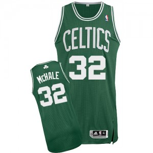 Maillot NBA Boston Celtics #32 Kevin Mchale Blanc Adidas Authentic Home - Homme