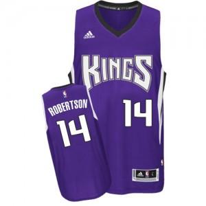 Maillot NBA Violet Oscar Robertson #14 Sacramento Kings Road Swingman Homme Adidas