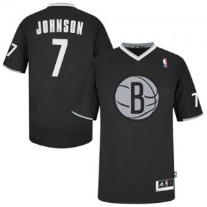 Maillot Authentic Brooklyn Nets NBA 2013 Christmas Day Noir - #7 Joe Johnson - Homme