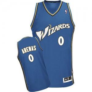 Washington Wizards #0 Adidas Bleu Swingman Maillot d'équipe de NBA sortie magasin - Gilbert Arenas pour Homme