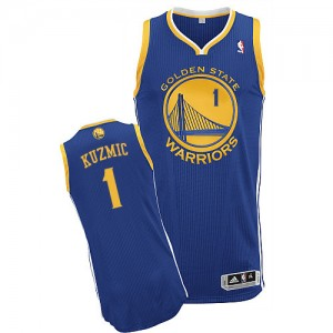 Maillot Adidas Bleu royal Road Authentic Golden State Warriors - Ognjen Kuzmic #1 - Homme