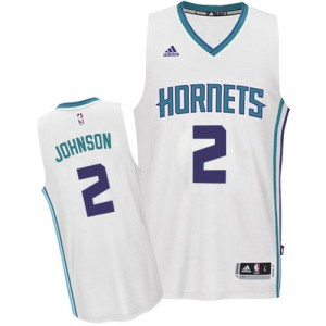 Maillot NBA Authentic Larry Johnson #2 Charlotte Hornets Home Blanc - Homme