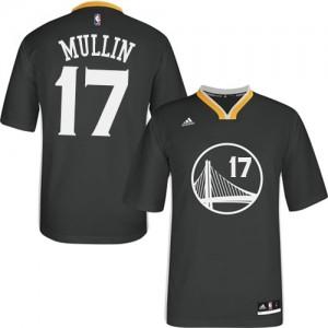 Maillot Adidas Noir Alternate Authentic Golden State Warriors - Chris Mullin #17 - Homme