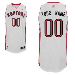 Toronto Raptors Authentic Personnalisé Home Maillot d'équipe de NBA - Blanc pour Enfants