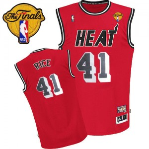 Miami Heat #41 Adidas Throwback Finals Patch Rouge Authentic Maillot d'équipe de NBA préférentiel - Glen Rice pour Homme