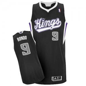 Maillot NBA Noir Rajon Rondo #9 Sacramento Kings Alternate Authentic Homme Adidas