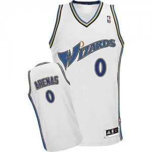 Washington Wizards #0 Adidas Blanc Authentic Maillot d'équipe de NBA Vente - Gilbert Arenas pour Homme