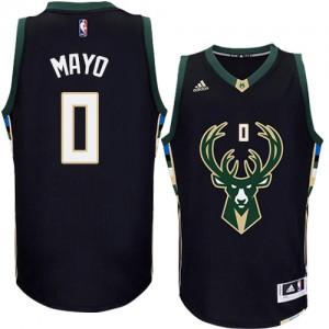 Maillot NBA Milwaukee Bucks #0 O.J. Mayo Noir Adidas Authentic Alternate - Homme