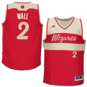 Washington Wizards #2 Adidas 2015-16 Christmas Day Rouge Authentic Maillot d'équipe de NBA la meilleure qualité - John Wall pour Homme