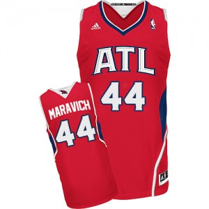 Maillot Swingman Atlanta Hawks NBA Alternate Rouge - #44 Pete Maravich - Homme