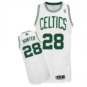 Maillot NBA Blanc R.J. Hunter #28 Boston Celtics Home Authentic Homme Adidas