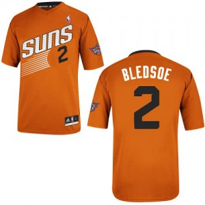 Maillot NBA Phoenix Suns #2 Eric Bledsoe Orange Adidas Authentic Alternate - Homme