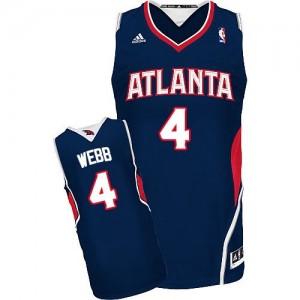 Maillot Swingman Atlanta Hawks NBA Road Bleu marin - #4 Spud Webb - Homme