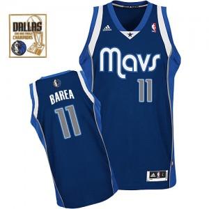 Maillot Adidas Bleu marin Alternate Champions Patch Swingman Dallas Mavericks - Jose Barea #11 - Homme