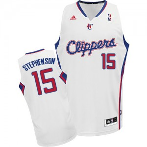 Maillot NBA Blanc Lance Stephenson #15 Los Angeles Clippers Home Swingman Homme Adidas