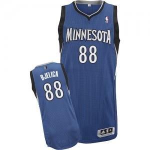 Minnesota Timberwolves #88 Adidas Road Slate Blue Authentic Maillot d'équipe de NBA Vente - Nemanja Bjelica pour Homme