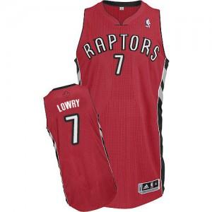 Toronto Raptors Kyle Lowry #7 Road Authentic Maillot d'équipe de NBA - Rouge pour Enfants