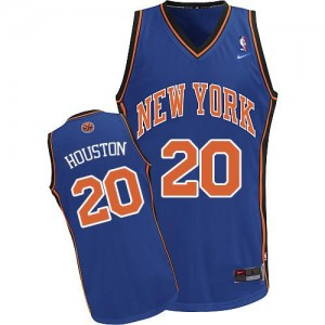 New York Knicks Nike Allan Houston #20 Throwback Authentic Maillot d'équipe de NBA - Bleu royal pour Homme