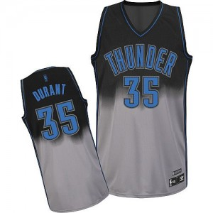Maillot NBA Authentic Kevin Durant #35 Oklahoma City Thunder Fadeaway Fashion Gris noir - Homme