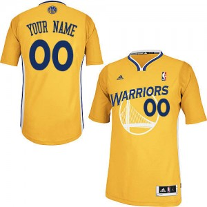 Maillot Golden State Warriors NBA Alternate Or - Personnalisé Swingman - Femme