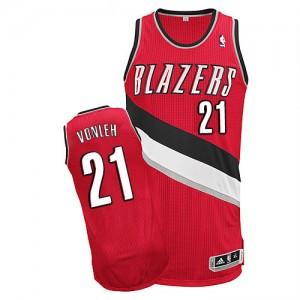 Portland Trail Blazers Noah Vonleh #21 Alternate Authentic Maillot d'équipe de NBA - Rouge pour Homme