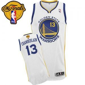 Golden State Warriors #13 Adidas Home 2015 The Finals Patch Blanc Authentic Maillot d'équipe de NBA prix d'usine en ligne - Wilt Chamberlain pour Homme