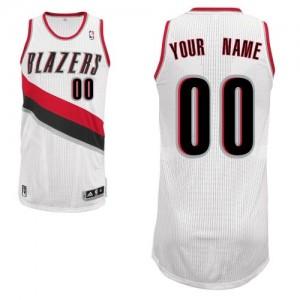 Maillot NBA Blanc Authentic Personnalisé Portland Trail Blazers Home Enfants Adidas