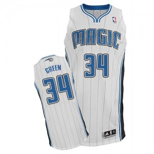 Maillot NBA Orlando Magic #34 Willie Green Blanc Adidas Authentic Home - Homme