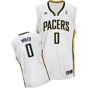 Maillot NBA Blanc C.J. Miles #0 Indiana Pacers Home Swingman Homme Adidas