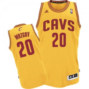 Maillot NBA Or Timofey Mozgov #20 Cleveland Cavaliers Alternate Authentic Homme Adidas