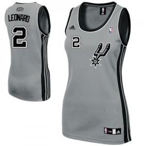 San Antonio Spurs Kawhi Leonard #2 Alternate Swingman Maillot d'équipe de NBA - Gris argenté pour Femme