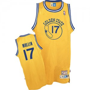 Maillot Adidas Or Throwback Authentic Golden State Warriors - Chris Mullin #17 - Homme