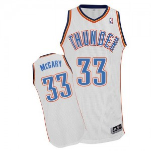 Maillot NBA Blanc Mitch McGary #33 Oklahoma City Thunder Home Authentic Homme Adidas