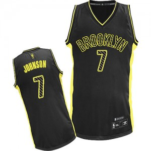 Maillot Authentic Brooklyn Nets NBA Electricity Fashion Noir - #7 Joe Johnson - Homme