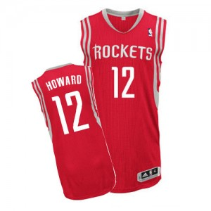 Maillot Adidas Rouge Road Authentic Houston Rockets - Dwight Howard #12 - Homme