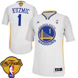 Maillot Adidas Blanc Alternate 2015 The Finals Patch Authentic Golden State Warriors - Ognjen Kuzmic #1 - Homme