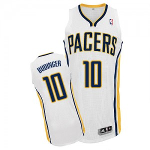 Maillot NBA Blanc Chase Budinger #10 Indiana Pacers Home Authentic Homme Adidas