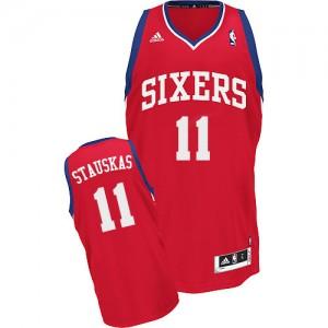 Maillot NBA Swingman Nik Stauskas #11 Philadelphia 76ers Road Rouge - Homme