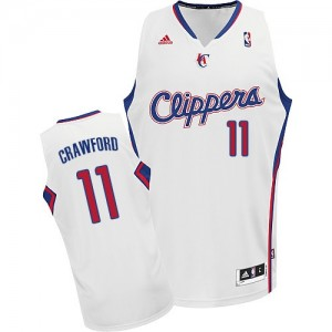 Maillot NBA Los Angeles Clippers #11 Jamal Crawford Blanc Adidas Swingman Home - Homme