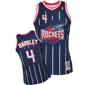 Maillot Authentic Houston Rockets NBA Hardwood Classic Fashion Bleu marin - #4 Charles Barkley - Homme