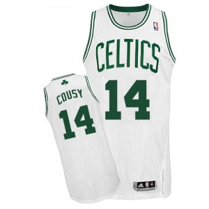 Maillot Adidas Blanc Home Authentic Boston Celtics - Bob Cousy #14 - Homme