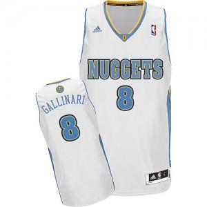 Maillot NBA Swingman Danilo Gallinari #8 Denver Nuggets Home Blanc - Homme