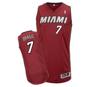Miami Heat #7 Adidas Alternate Rouge Authentic Maillot d'équipe de NBA pas cher - Goran Dragic pour Homme