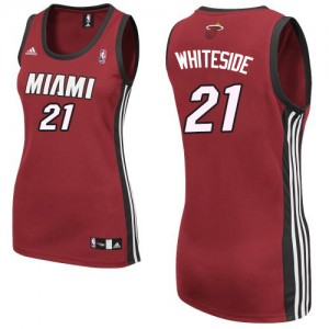 Maillot Authentic Miami Heat NBA Alternate Rouge - #21 Hassan Whiteside - Femme
