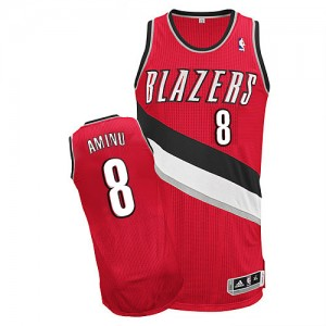 Maillot Authentic Portland Trail Blazers NBA Alternate Rouge - #8 Al-Farouq Aminu - Homme